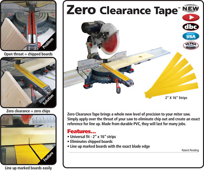 New Fastcap Zero Clearance Tape for Chopsaw Miter Saw