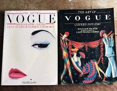 Lot Of 2 - The Art Of Vogue Magazine Covers Book William Packer & Valerie Lloyd
