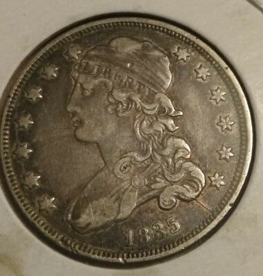 1835 25C Capped Bust Quarter !with error! High grade better date.see it 😉
