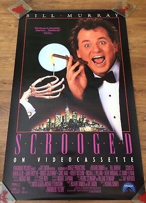 SCROOGED  Original Video Store PROMO Poster