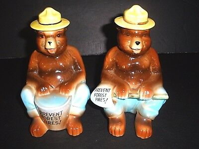 Very Early Vintage Norcrest Smokey Bear Book Ends-- VERY RARE!!  Awesome!!!