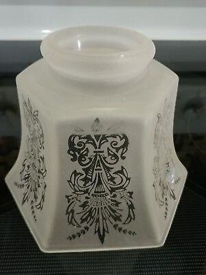 """Vintage Etched Frosted Glass lamp shade globe 3 """"  fitter"""