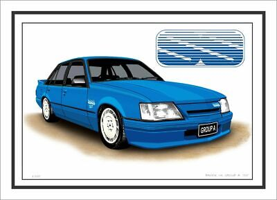 Brock Vk Group A Ss Commodore Limited Edition Car Drawing Print (3 Car Colours)