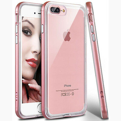 Shockproof Rubber TPU Soft Back Case Cover + PC Bumper Frame for iPhone X 8 Plus