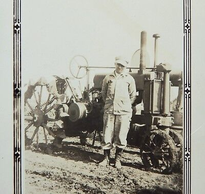 Orig 1937 John Deere Photo Model A Tractor Cecil Smith