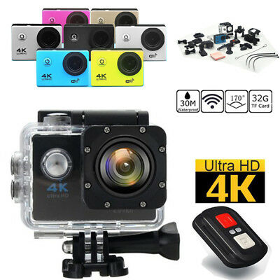 F60R WiFi 4K 1080P Sport Action Camera Waterproof DVR Cam Camcorder Full HD LOT