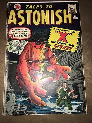 "Tales to Astonish #20  ""X  The Thing That Lived"". ALL KIRBY, DITKO ISSUE"