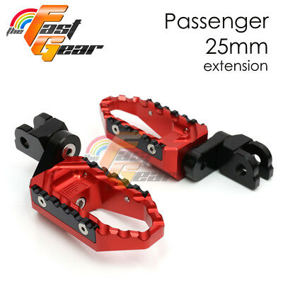 25mm Tour Riser Passenger Red Foot Pegs Fit Ducati 1198 S/R/EVO 10 11 12