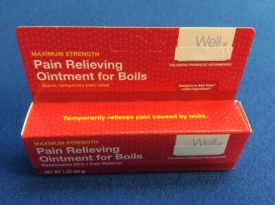 WALGREENS PAIN RELIEVING Ointment for Boils Compare to Boil-Ease