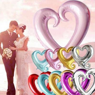 5Pcs Love Heart Shape Foil Balloon Wedding Birthday Party Valentine's Day Decor