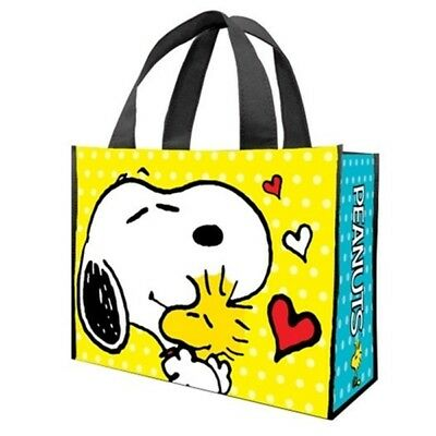 Peanuts Snoopy Hugging Woodstock Large Recycled Shopper Tote Bag NEW UNUSED