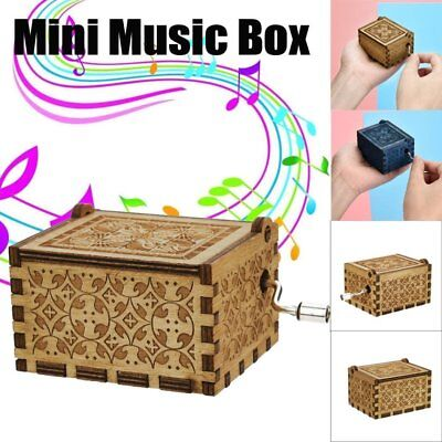 Wooden Music Box Harry Potter Game of Thrones Star Wars Engraved Toys Kid Gift X