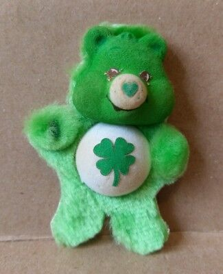 "Vintage 1985 Care Bears Refrigerator Good Luck Bear Green Magnet 3.5"" Soft A.G.C"