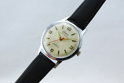 Geneva Sport 1960 Vintage Collectors Classic Watch Swiss Made Textured Dial 35mm