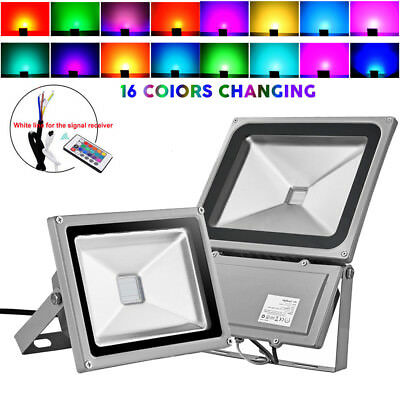 10W 20W 30W 50W 100W RGB Colour Changing LED Floodlight Outdoor Spotlight IP65