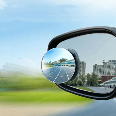2X 2'' Driver Side Blind Spot Wide Angle Round Convex Car Auto Rear View Mirror#