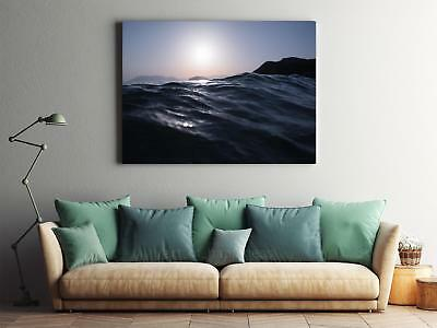 Framed Canvas Stretched Print Water Waves Ripples Surface Sea