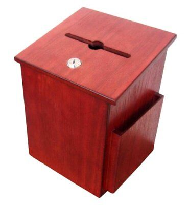 FixtureDisplays Wood Suggestion Box Comment Collection Donation Charity Ballot