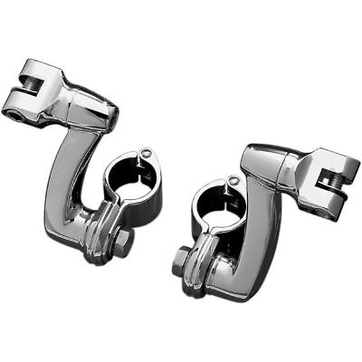 "Kuryakyn Longhorn Offset Footpeg w/ 1"" Magnum Clamps Highway Mounts Chrome"