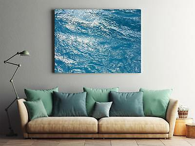 Framed Canvas Stretched Print Water Surface Wave Ruffled Moves