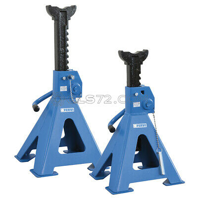 Couple Jack Stands Stand Axle 6 Ton Car Van Lifting Fervi 0069/6