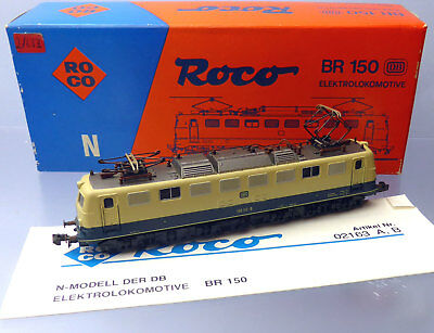Roco N 02163B; Electric locomotive 150117-8 DB, boxed /F186