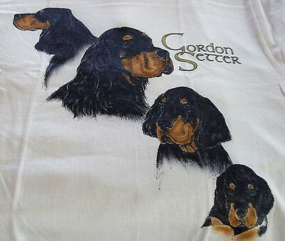 "Gordon Setter T-shirt  "" Ash "" Small ( 34 ~ 36 )"