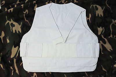 Stab vest cover white 40-48 inch new police Metvest heavy duty paintball airsoft
