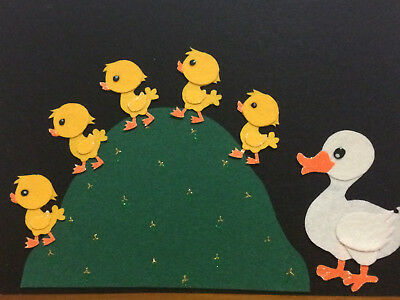 Felt Board Story/nursery Rhyme Teacher Resource - 5 Little Ducks