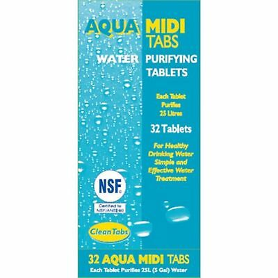 Aqua Clean Tabs  Drinking Water Purification Tablets 32 Each Tab Purifies 25 L