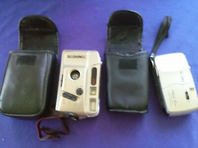 2 Vintage BELL HOWELL Cameras 35mm Point and Shoot *AS IS*