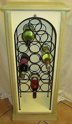 WINE RACK - SHABBY/ C STYLE- Circa 1960's ( 18 BOTTLE CAPACITY) + STORAGE