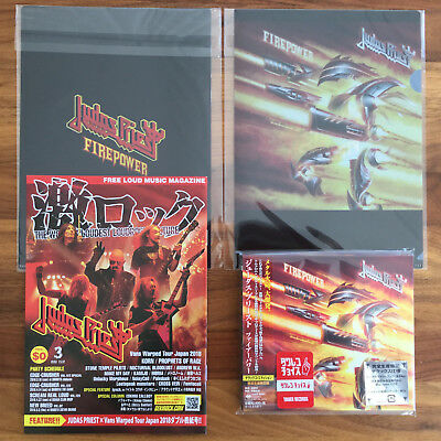 Last Japan Clearfile+Mag+Sticker+Blu-Spec Cd2+Book Judas Priest Firepower Deluxe