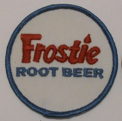 "Frostie Root Beer Soda patch Soft Drink 2-7/8"" inches Vintage"