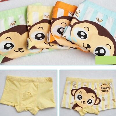 Children Underwear Cute Cartoon Monkey Boxer Briefs Kid Boy Underpants New
