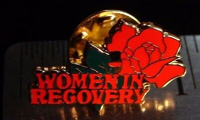 Alcoholics Anonymous Women In Recovery Lapel Hat Vest Pin NA Recovery Sobriety