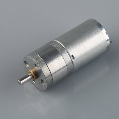 12V DC 60/120/200/500/1000RPM High Torque Gear Box Motor Dia 25mm