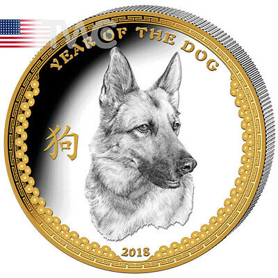Year Of The Dog 1 oz Ultra High Relief Proof Silver Coin 5$ Palau 2018