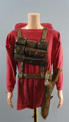 roman soldiers back pack, weapons and pouch movie set prop ben hur