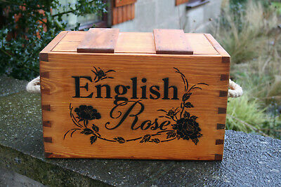 Rustic Antiqued Vintage Wooden English Rose   Boxes  Crates Trugs Handmade