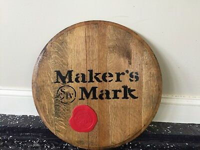 Makers Mark Rare Barrel Head Promotional Red Wax Seal Authentic 21""
