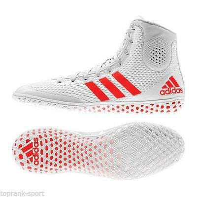 Adidas Wrestling Tech Fall 16 Rio Boots Shoes White/Orange Adults - AF5543