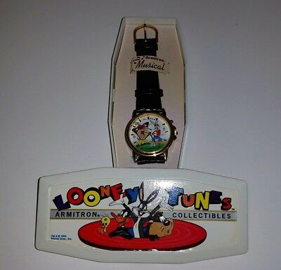 Looney Tunes Armitron Collectables Bugs Bunny Taz Musical Watch Opened