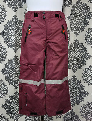 Ducksday Kids Snow Rain Winter Pants Sz 116-122 Dark Red