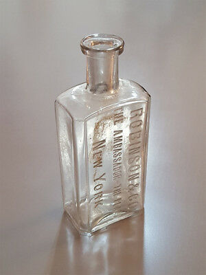Robinson & Co. Ambassador Plaza Hotel New York Antique Vintage Medicine Bottle