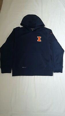 Used  Navy Blue Boys Nike Therma-Fit  Hoodie Size Youth L