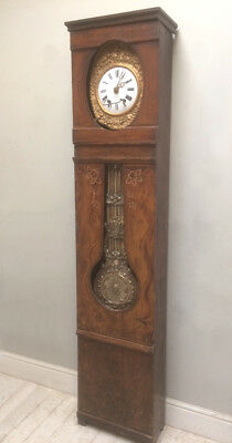 WONDERFUL ANTIQUE FRENCH COUNTRY COMTOISE CLOCK c1900