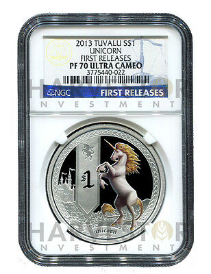 2013 Mythical Creature Series - Unicorn - Ngc Pf70 First Releases W/ogp - Pop=40
