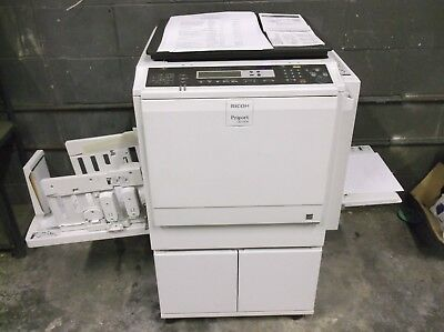Ricoh DD4450 Digital Duplicator Tested LOW METERS  Excellent Prints at 600 dpi