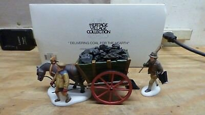 The Heritage Village Collection 58326 Delivering Coal For The Hearth Porcelain